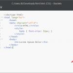Brackets / HTML, CSS 실시간 미리보기 사용하는 방법