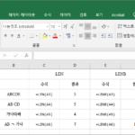 엑셀 / 함수 / LEN, LENB / 문자열의 문자 수, 바이트 수 구하는 함수
